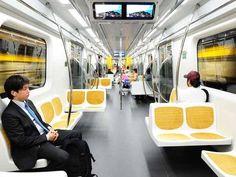 Inside the train Yellow Line