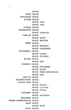 Species of Spaces and Other Pieces, Georges Perec.