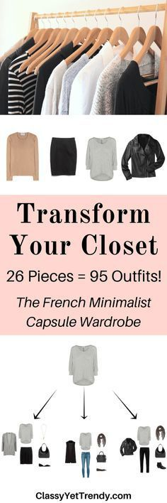 The French Minimalist Capsule Wardrobe E-Book: Fall 2016 Collection - Classy Yet Trendy - Transform Your Closet with the French Minimalist Capsule Wardrobe You are in the right place about m - Minimalist Closet, Minimalist Living, Minimalist Clothing, Minimalist Beauty, Minimalist Fashion French, Minimalist Style, Minimalist Wardrobe Men, Minimalist Wardrobe Essentials, Minimalist Packing