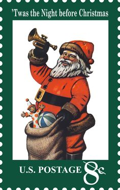 Santa Claus first appeared on a U.S. postage stamp in 1972. Wonder how many times he has appeared since.