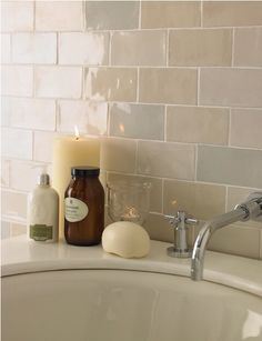 Artisan Pale Biscuit Ceramic Wall Tile Pack Laura Ashley
