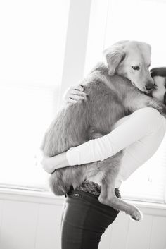 Dogs are a girl's best friend! Animal love | black and white photography.