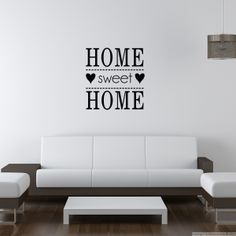 Stickers muraux citations - Sticker Home Sweet Home   Ambiance-live.com