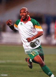 Football 2002 World Cup Qualifier African Second Round Group C May 2001 Cairo Egypt 1 v Senegal 0 Senegal's Ousseinoh Diouf 2002 World Cup, World Cup Qualifiers, Football Photos, Football Kits, Cairo Egypt, Vintage Football, African, Group, Running