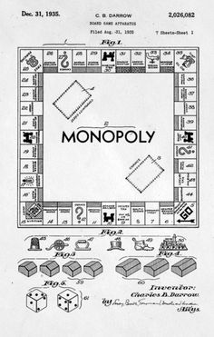 Monopoly patent - a classic product loved by people all over the world