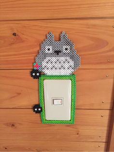 Totoro light switch frame perler beads by mamitaku0414