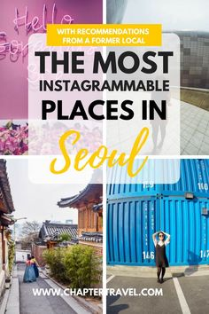 Seoul is the perfect place for a photographer. It has a lot of unique spots and a mix of culture, history, arts and modern architecture. You can even find nature in the buzzing city of Seoul. In this post I share 14 Instagrammable places in Seoul, South Korea!