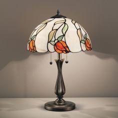 Perenz T937+B496 lampada Tiffany da tavolo in resina e zama