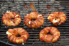 4.8 from 10 reviews   Bacon-wrapped Pineapple Mozzarella Rings (a.k.a. Bacon Donuts)    Print     Prep time  20 mins    Cook time  30 mins