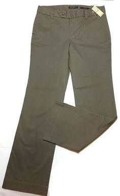 EDDIE BAUER Pants 12 Long Tall Mercer Fit Stretch Khaki NEW #EddieBauer #CasualPants