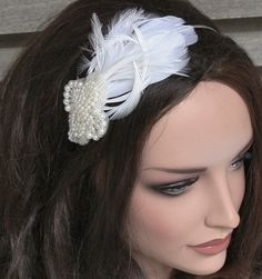 Bridal Headband Wedding Headband Pearl Bridal par FancieStrands, $45,00