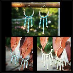 #booboosheek #handmade #swarovski #crystals #earrings #sterlingsilver #posts #hanging #ethnic #dreamcatcher #hoops #fashion #jewelry #BBS ...available in all Swarovski crystal colors.