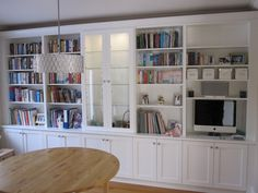 built in shelves with desk - Google Search