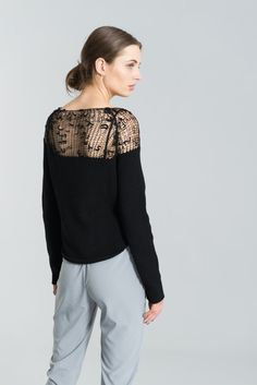 Sheer Sweater   Hand-knit Blouse   Transparent Casual Shirt   Cropped  Sweater   Black 265970e867