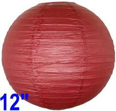 """Burgundy Red Chinese/Japanese Paper Lantern/Lamp 12"""" Diameter - Just Artifacts Brand by Just Artifacts. $1.20. Great for party and home decoration. Check Just Artifacts products for more available colors/sizes."""