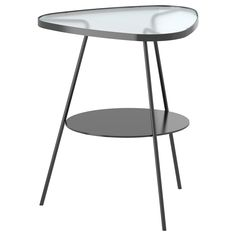 ikea black steel and glass side table nightstand Ikea White Side Table, Round Metal Side Table, Ikea Lack Side Table, Ikea Lack Coffee Table, Glass Side Tables, Black Side Table, Glass Table, Bedside Table Ikea, Metal Nightstand