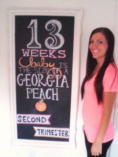 Weekly photos of pregnancy @13 weeks