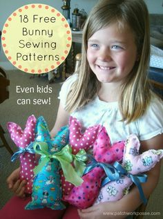 Basket tutorial looks fabulously easy definitely trying this 18 free bunny patterns to sew easy enough for kids sewing patchworkposse negle Choice Image