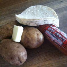 Potato & Chorizo Tacos | KarensOrdinaryLife
