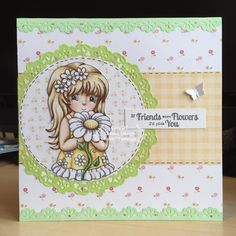 Little Lucy's Handmade Cards: If Friends Were Flowers... (Miss Daisy Stamps)