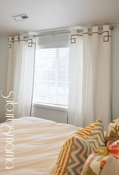 DIY (No sew) curtains for master redo
