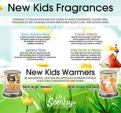 New Scentsy Kids Fragrances for Fall & Winter 2015 www.annaeast.scentsy.us Follow Me on FaceBook at: Anna East, Independent Scentsy Consultant