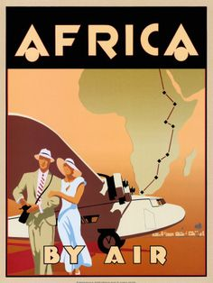 vintage travel poster Chicago * Braniff Airways Africa by Air Vintage Poster Posters Decor, Old Posters, Art Deco Posters, Retro Posters, Movie Posters, Poster S, Poster Prints, Art Prints, Retro Airline