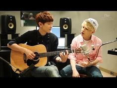 SO in love with this version... Henry 헨리_'1-4-3 (I Love You)'_Acoustic Version with Chan Yeol of EXO