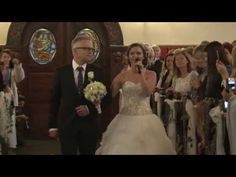 This bride couldn't wait to meet her groom at the altar, but her special surprise brought him to tears first Beautiful Songs, Beautiful Bride, Wedding Themes, Wedding Dresses, Alesund, Kirkenes, Future Wife, Wedding Music, Walking Down The Aisle