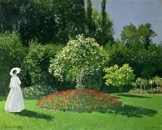 Jeanne Marie Lecadre in the Garden: 1866by Claude Monet (Hermitage, St. Petersburg, Russia) - Impressionism