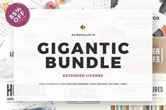 The Gigantic Bundle - 85% Off by AlienValley on @creativemarket