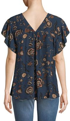 Shop Countryside Floral-Print Shell from Sanctuary at Neiman Marcus Last Call, where you'll save as much as on designer fashions. Short Sleeve Tee, Short Sleeves, Embroidered Shorts, Ruffle Top, Sewing Ideas, Neiman Marcus, Floral Prints, Blouses, Pullover