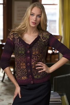 Ravelry: Fair Isle Cardigan pattern by Sandy Huff