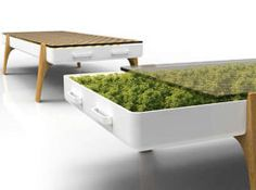 Hydroponic Coffe Table  -  Produce Food / Freshen Air  , via Etsy.