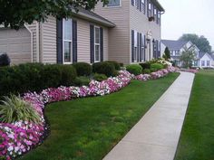 Designing the front yard is very important. It gives the house a great look. You can decorate your front yard with flowers, grass, rocks and a lot of other creative stuff. There are many front garden ideas that are generally… Continue Reading → Cheap Landscaping Ideas For Front Yard, Landscaping Supplies, Landscaping Plants, Landscaping Design, Backyard Ideas, Outdoor Landscaping, Walkway Ideas, Landscaping Software, Ranch House Landscaping