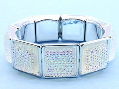 The square version of the sparkly bracelet