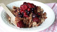 Teljes kiőrlésű császármorzsa mindenmentes gyümölcsszósszal: laktató és finom diétás ebéd!