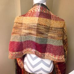 Back of Shawl handwoven on rigid heddle loom at In the Loop Yarn Shop in Hartselle, AL