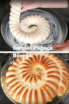 Tek hamur ile bir tepsi dolusu sarmal #poğaça böreği yapabilirsiniz. #börek #yemek #food