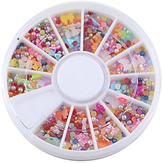 Over 500pcs Mixed Rhinestones Nail Art Tips Glitters Slice Decoration Manicure Wheel >>> Check out this great product. (This is an affiliate link) #NailArtAccessories