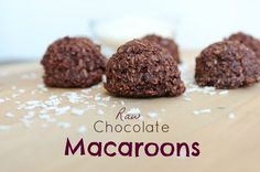 These raw chocolate macaroons are a portable, nourishing snack for the family. They go to school or the ski hill and are just delicious! They make me smile.