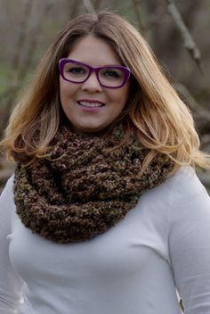 Outlander Inspired Mini Chunky Cowl in brown by EntangledCouture
