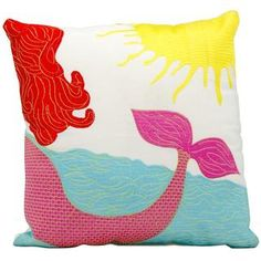 Mina Victory by Nourison Indoor/Outdoor Multicolor Mermaid 18-inch Throw Pillow | Overstock.com Shopping - The Best Deals on Throw Pillows