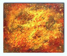 Abstract oil on canvas painting.