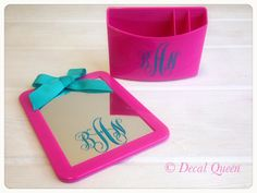Personalized Monogram Locker Accessories by TheDecalQueen on Etsy, $15.00