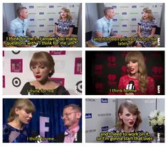Taylor Swift in every interview ever
