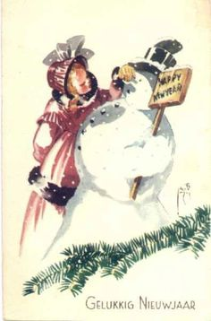 Vintage SnowMan - SnowMan - Vintages Cards - Christmas Wallpapers ...