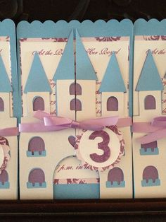 Princess Castle InvitationSet of 18 by signaturecreations1 on Etsy, $63.00