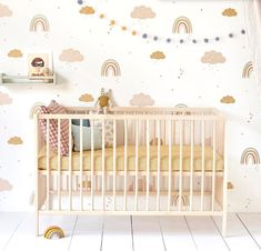 Kids Bedroom Wallpaper and Nursery Wallpaper Online Rainbow Nursery Decor, Nursery Themes, Nursery Room, Girl Nursery, Nursery Ideas, Rainbow Wallpaper, Rose Wallpaper, Wallpaper Roll, Kids Bedroom Wallpaper