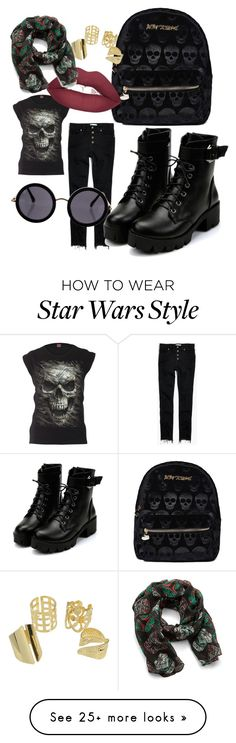 """SKILL IT WITH SKULL"" by asvaabigail on Polyvore featuring Betsey Johnson, Madewell and The Row"